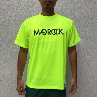 マッドロックロゴ Tシャツ/ドライタイプ/ネオンイエロー&ブラック