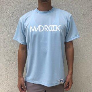 マッドロックロゴ Tシャツ/ドライタイプ/ライトブルー×ホワイト