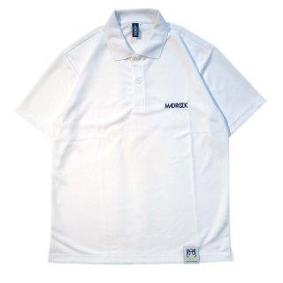 マッドロック ロゴ ポロシャツ/ドライタイプ/ホワイト&ネイビー