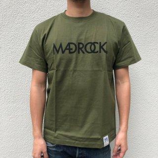 マッドロックロゴ Tシャツ / コットン / シティグリーン×ブラック