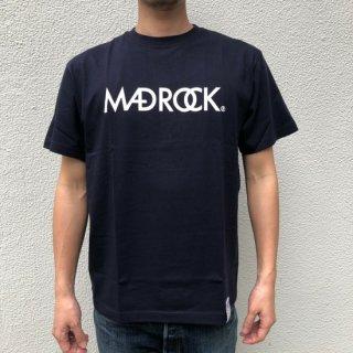 マッドロックロゴ Tシャツ / コットン / ネイビー×ホワイト