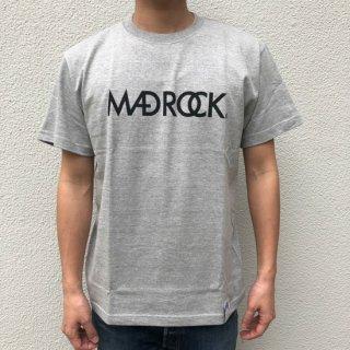 マッドロックロゴ Tシャツ / コットン / グレー×ブラック
