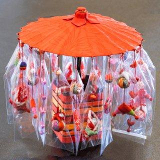傘飾り(赤)