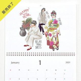 きくちあつこ(oookickooo) | 壁掛けカレンダー(2021年1月はじまり)【A3】