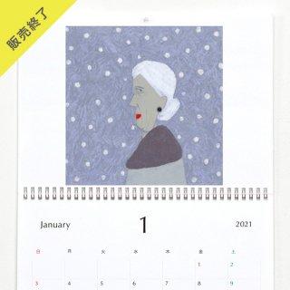 井上沙紀 | 壁掛けカレンダー(2021年1月はじまり)【A3】