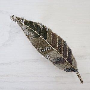 Veriteco  栗の葉 バレッタ