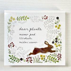 浅野 みどり ブロックメモ dear plants