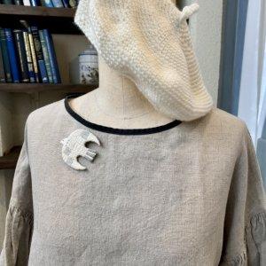 shiitorus 刺繍ブローチ Bird  �