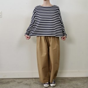 <img class='new_mark_img1' src='https://img.shop-pro.jp/img/new/icons14.gif' style='border:none;display:inline;margin:0px;padding:0px;width:auto;' />pongee    Cotton rubber cross tuck wide pants