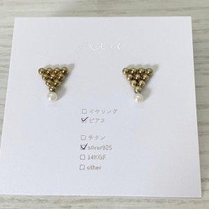 niu. 真鍮ピアス(P3800-76)