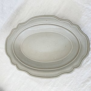 内山 太朗 花リム オーバル深皿(27cm)