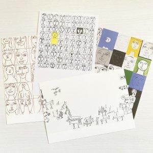 猪熊 弦一郎 ポストカード PostCard(顔・想像の広場)