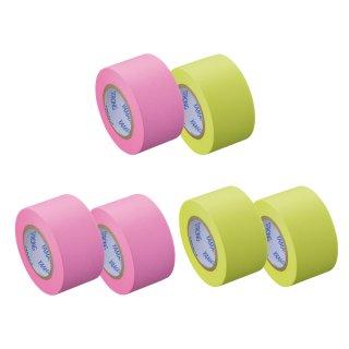 メモックロールテープ<強粘着> 蛍光紙 25mm幅(2巻入)つめかえ