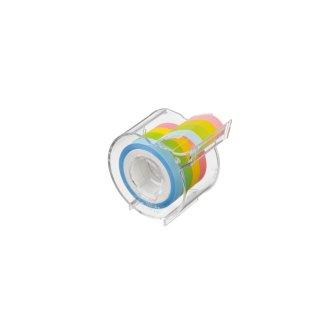 メモックロールテープ  フィルムタイプ 7mm幅 カッター付(4巻入)
