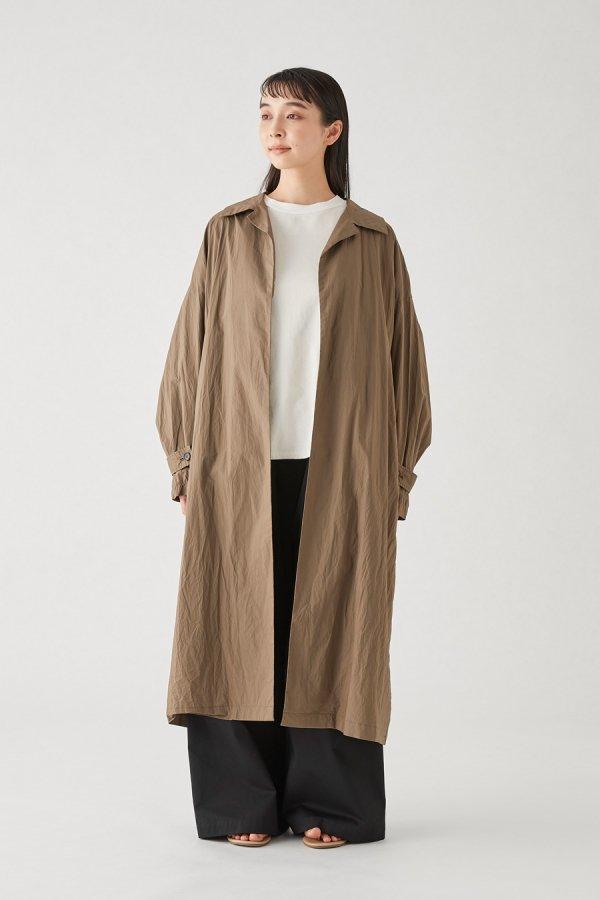 soutien collar wide long coat