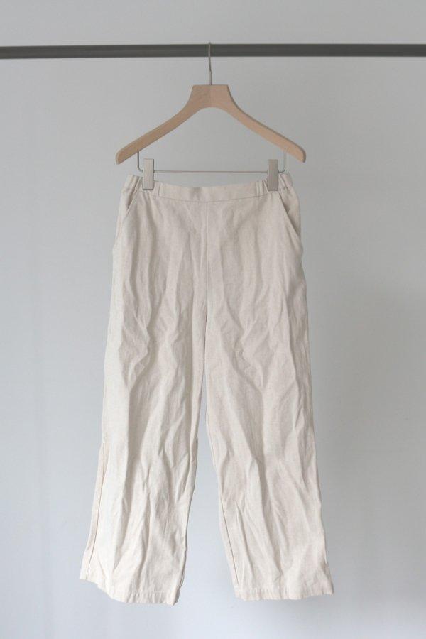 cotton/linen straight pants