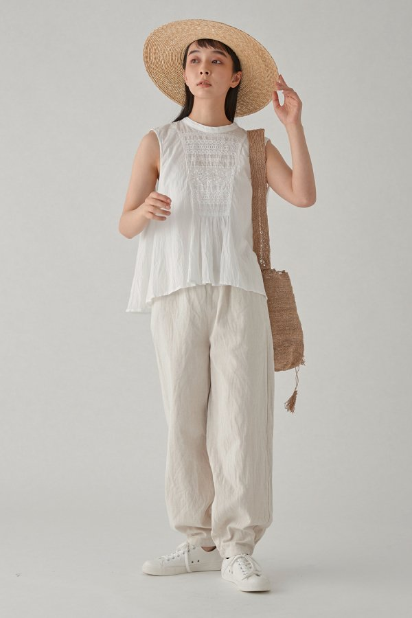 <img class='new_mark_img1' src='https://img.shop-pro.jp/img/new/icons8.gif' style='border:none;display:inline;margin:0px;padding:0px;width:auto;' />cotton/linen easy pants