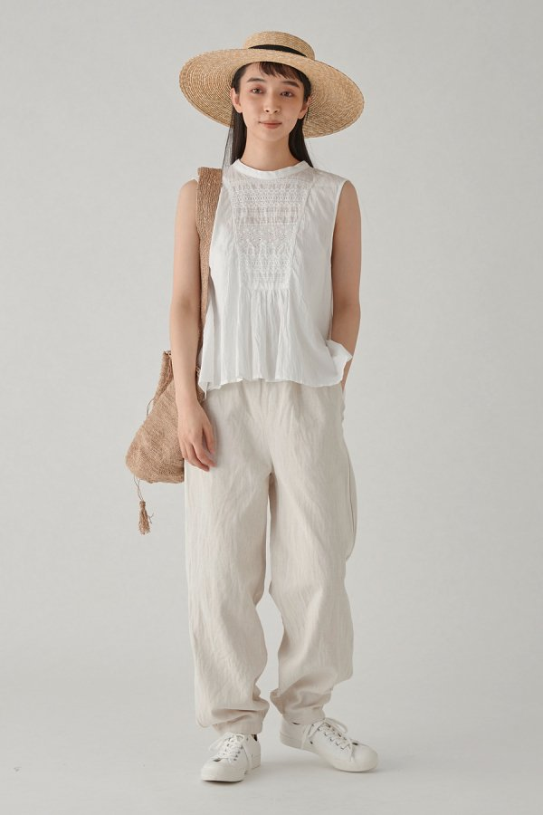 torsion lace no sleeve pull over
