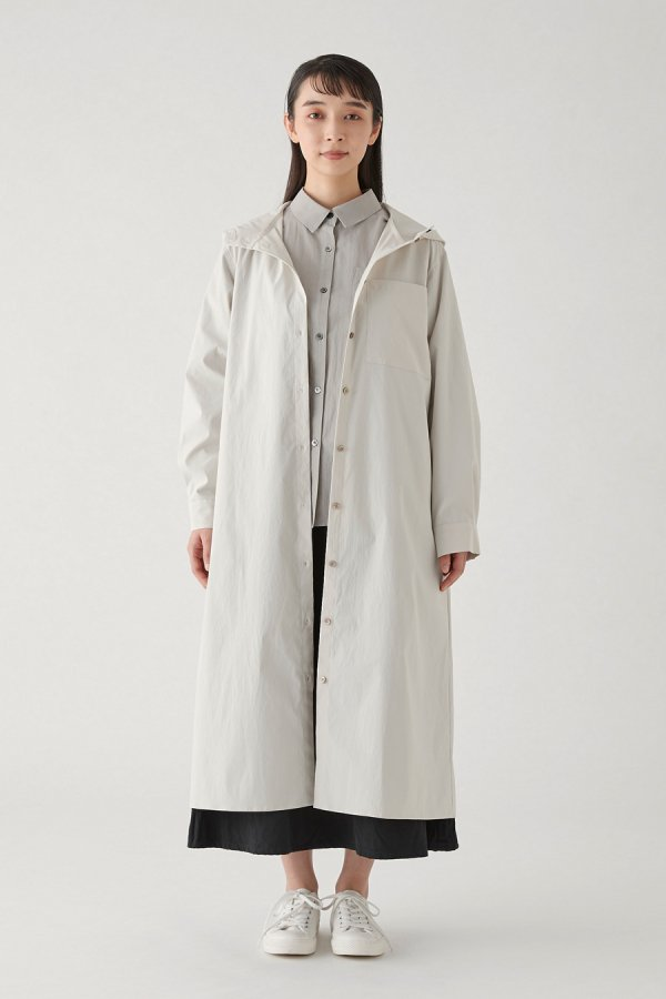 hooded coat one-piece