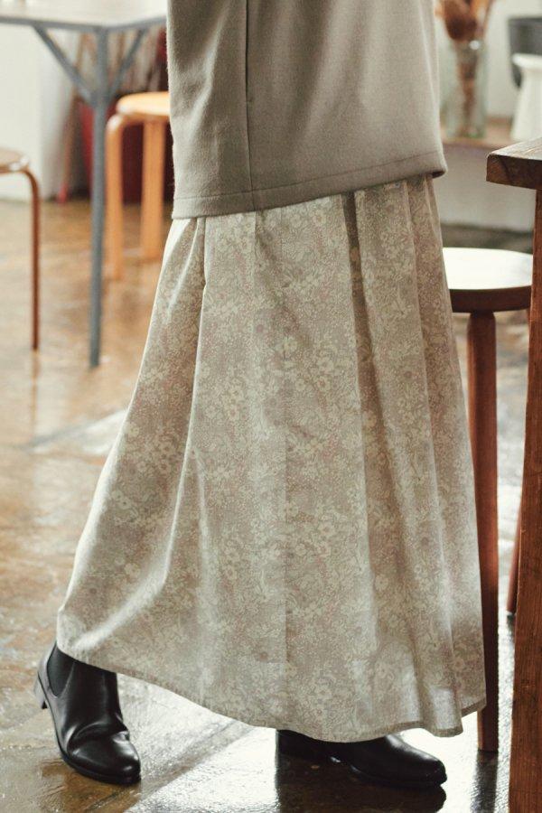 【リンネル掲載】LIBERTY print flare skirt