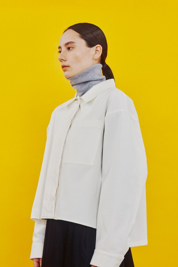 【リンネル掲載】front fly shirt jacket