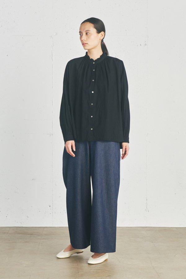 【リンネル掲載】wool blend frill collar shirt