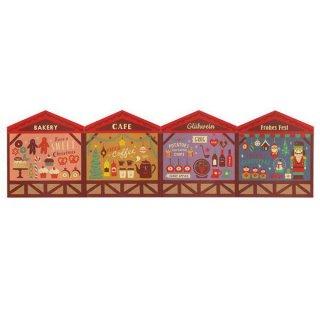 【クリスマスマーケット背景カード(ZXS-43068)】 DECOLE concombre デコレ コンコンブル 2020クリスマス 【ネコポス配送対応】【C】