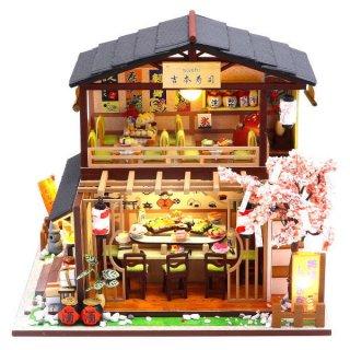 ミニチュアキット 吉本寿司 [M2011Z] ドールハウス 組み立てDIYキット(パーツは塗装済み) [m-s]【 ネコポス不可 】