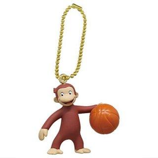 おさるのジョージ スポーツしようよ!フィギュアマスコット [2.バスケットボール]【ネコポス配送対応】【C】