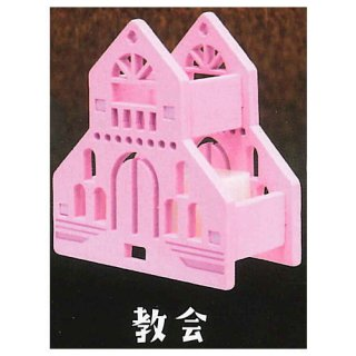 木のランプシェード マイハウス [3.教会]【 ネコポス不可 】【C】