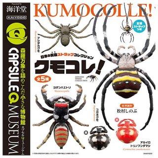 【全部揃ってます!!】カプセルQミュージアム 日本の蜘蛛ストラップコレクション クモコレ! [全5種セット(フルコンプ)]【ネコポス配送対応】【C】