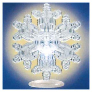 ネイチャーテクニカラー MONO PLUS 雪の結晶LEDライトコレクション [1.多重星形角板(台座)]【ネコポス配送対応】【C】