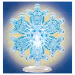 ネイチャーテクニカラー MONO PLUS 雪の結晶LEDライトコレクション [2.多重星形角板(青/台座)]【ネコポス配送対応】【C】