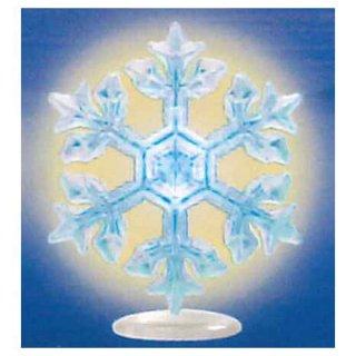 ネイチャーテクニカラー MONO PLUS 雪の結晶LEDライトコレクション [4.星形樹枝(青/台座)]【ネコポス配送対応】【C】