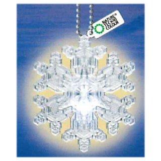 ネイチャーテクニカラー MONO PLUS 雪の結晶LEDライトコレクション [5.多重星形角板(ボールチェーン)]【ネコポス配送対応】【C】