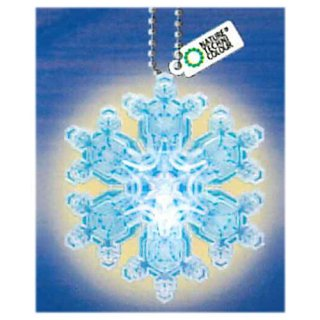 ネイチャーテクニカラー MONO PLUS 雪の結晶LEDライトコレクション [6.多重星形角板(青/ボールチェーン)]【ネコポス配送対応】【C】