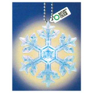 ネイチャーテクニカラー MONO PLUS 雪の結晶LEDライトコレクション [8.星形樹枝(青/ボールチェーン)]【ネコポス配送対応】【C】