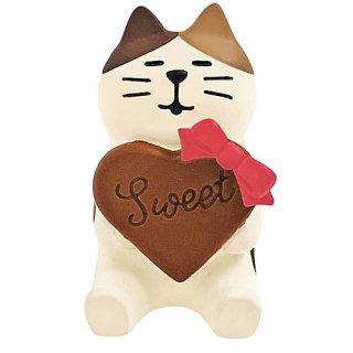 【ハートチョコ猫 (ZCB-79661)】 DECOLE concombre デコレ コンコンブル レトロチョコ 【 ネコポス不可 】【C】