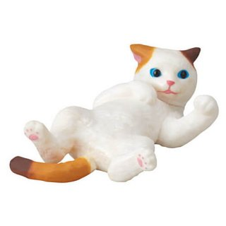 ふりむき三毛猫 [3.飛び三毛(仰向け)]【ネコポス配送対応】【C】
