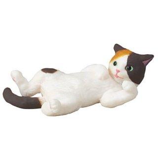 ふりむき三毛猫 [4.三毛猫(仰向け)]【ネコポス配送対応】【C】