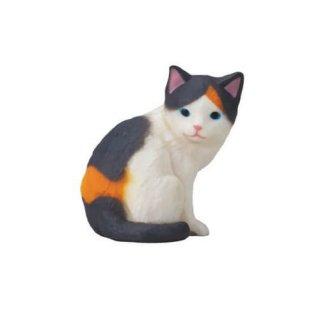 ふりむき三毛猫 [5.黒三毛(子猫)]【ネコポス配送対応】【C】