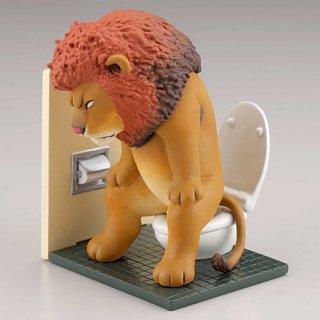 カプセルQミュージアム 佐藤邦雄の動物たち トイレの時間 [2.ライオン]【ネコポス配送対応】【C】