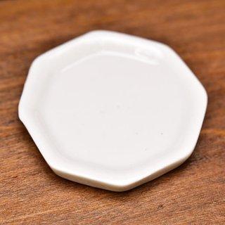 ミニチュア雑貨 陶器 Lサイズ [MMPP8] (セラミックプレート/カラー:ホワイト) 1/12スケール [m-s][imp]【ネコポス配送対応】【C】