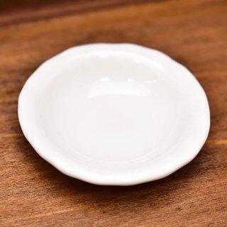 ミニチュア雑貨 陶器 Lサイズ [MMPP9] (セラミックボウル/カラー:ホワイト) 1/12スケール [m-s][imp]【ネコポス配送対応】【C】