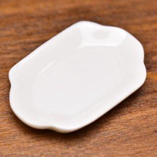 ミニチュア雑貨 陶器 Lサイズ [MMPP13] (セラミックプレート/カラー:ホワイト) 1/12スケール [m-s][imp]【ネコポス配送対応】【C】