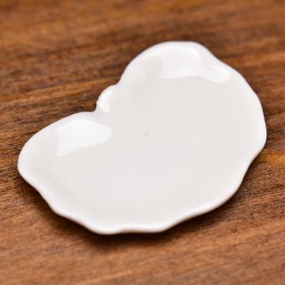 ミニチュア雑貨 陶器 Lサイズ [MMPP15] (セラミックプレート/カラー:ホワイト) 1/12スケール [m-s][imp]【ネコポス配送対応】【C】