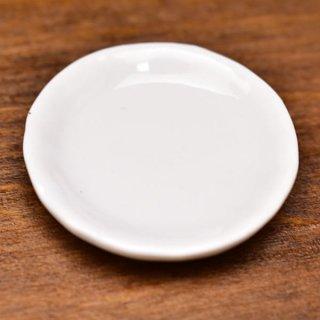ミニチュア雑貨 陶器 Lサイズ [MMPP16] (セラミックプレート/カラー:ホワイト) 1/12スケール [m-s][imp]【ネコポス配送対応】【C】