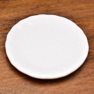 ミニチュア雑貨 陶器 Lサイズ [MMPP19] (セラミックプレート/カラー:ホワイト) 1/12スケール [m-s][imp]【ネコポス配送対応】【C】