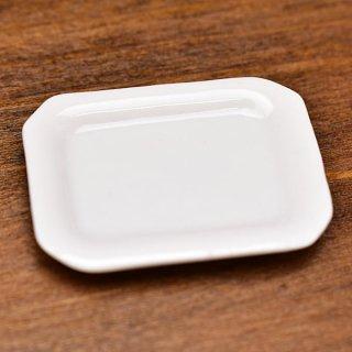 ミニチュア雑貨 陶器 Lサイズ [MMPP23] (セラミックプレート/カラー:ホワイト) 1/12スケール [m-s][imp]【ネコポス配送対応】【C】