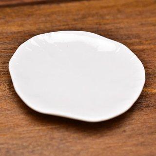 ミニチュア雑貨 陶器 Lサイズ [MMPP26] (セラミックプレート/カラー:ホワイト) 1/12スケール [m-s][imp]【ネコポス配送対応】【C】